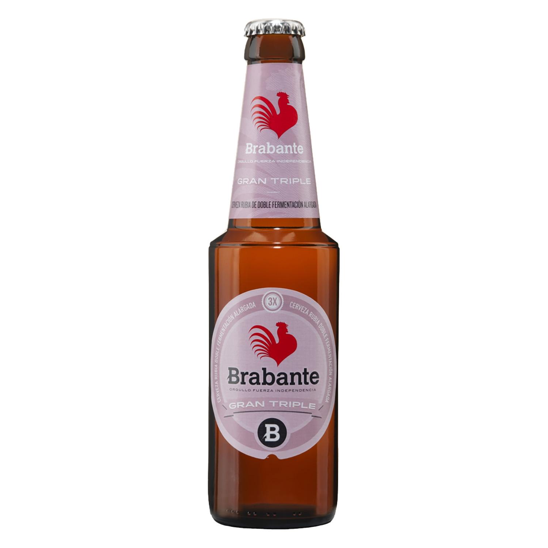 Cerveza Brabante Gran Triple doble fermentación alargada botella 33 cl.