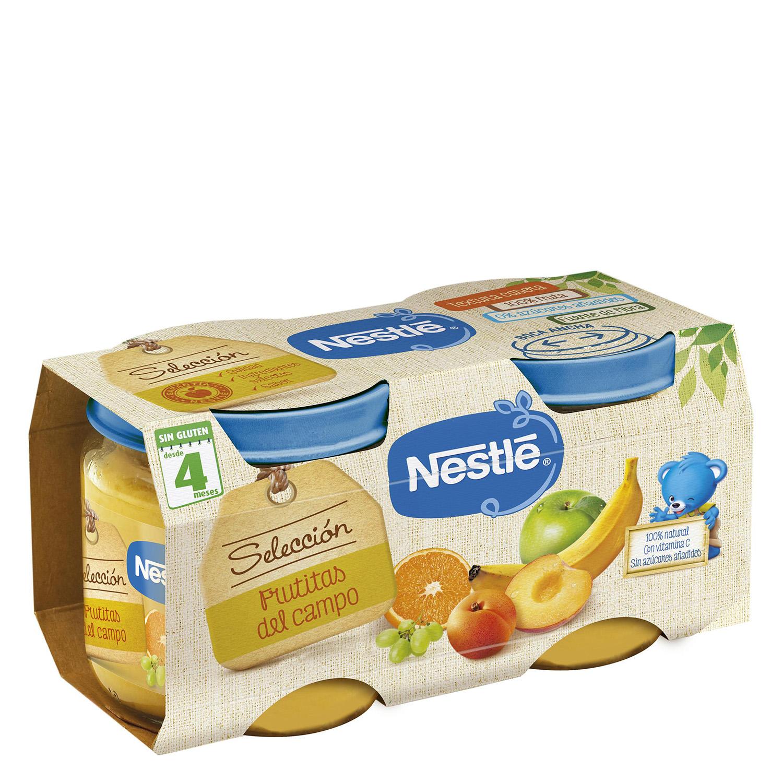 Tarrito de frutitas del campo Nestlé sin gluten pack de 2 unidades de 200 g.
