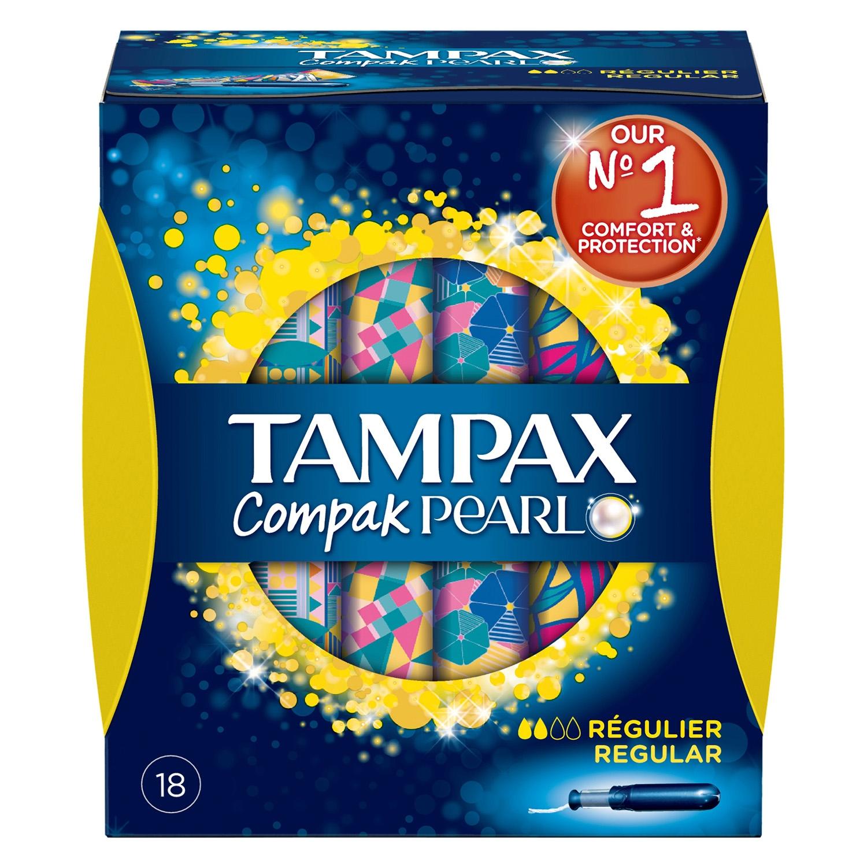 Tampones Compak Pearl regular Tampax 18 ud.