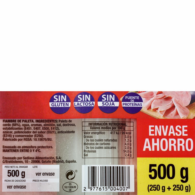 Paleta cocida loncheada Revilla pack 2s de 250 g - 3