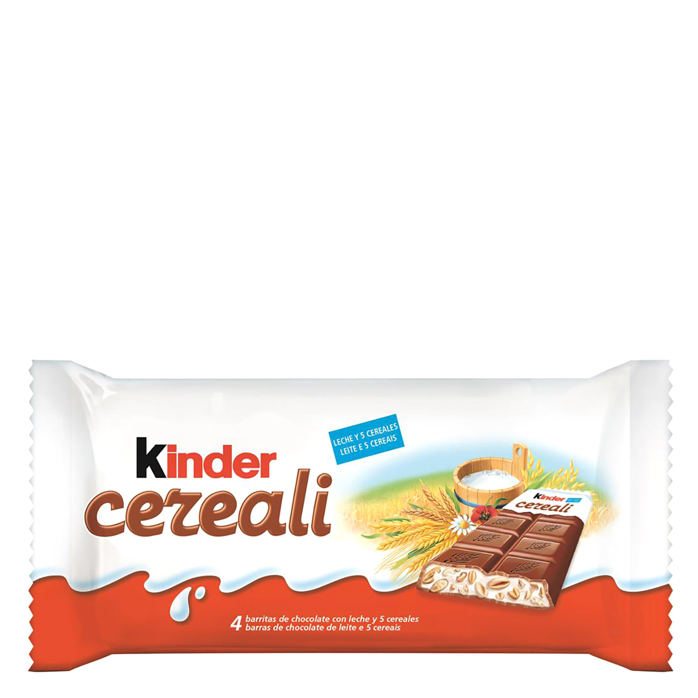 Barritas de chocolate con leche y cereales