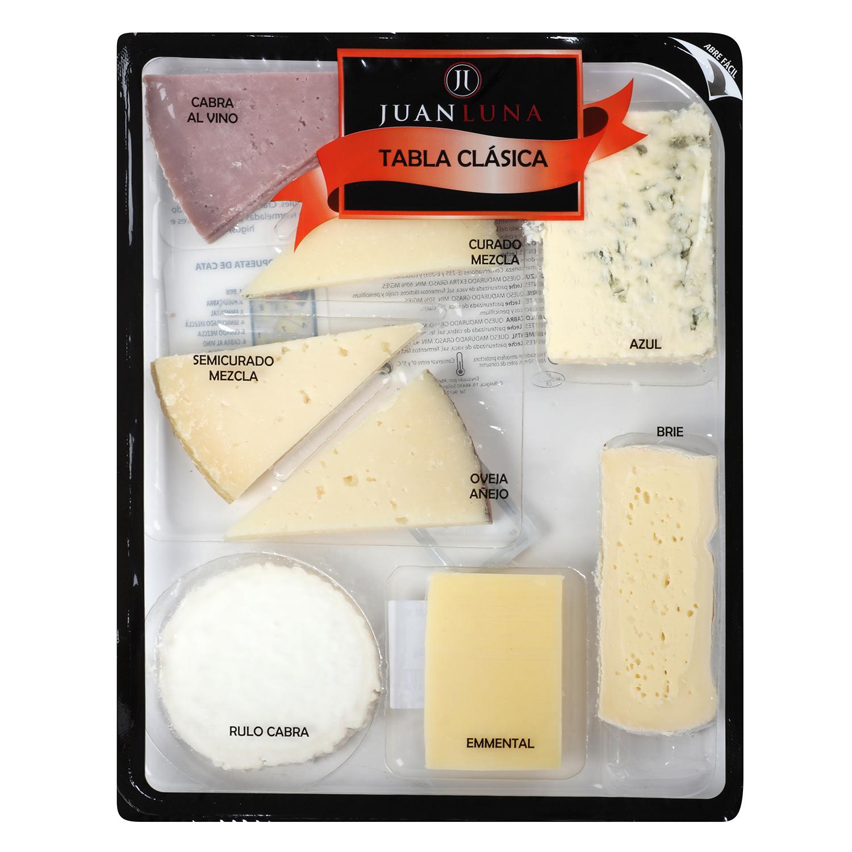 Tabla clásica de quesos