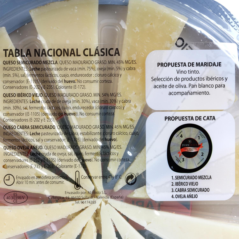 Tabla de queso nacional clásica - 2