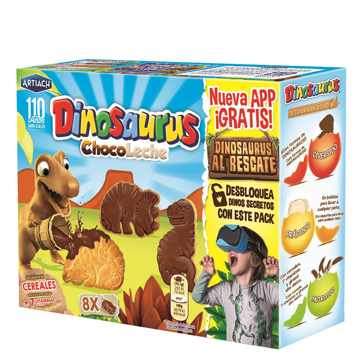 Galletas Dinosaurus chocolate y leche