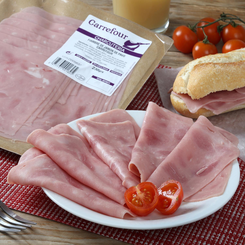 Jamón de pavo lonchas Carrefour envase 230 g -