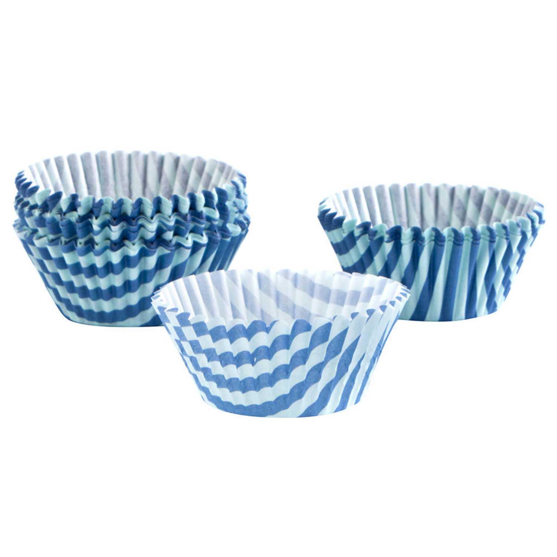 Moldes magdalenas de Papel QUID Mi taller 100 unid - Azul