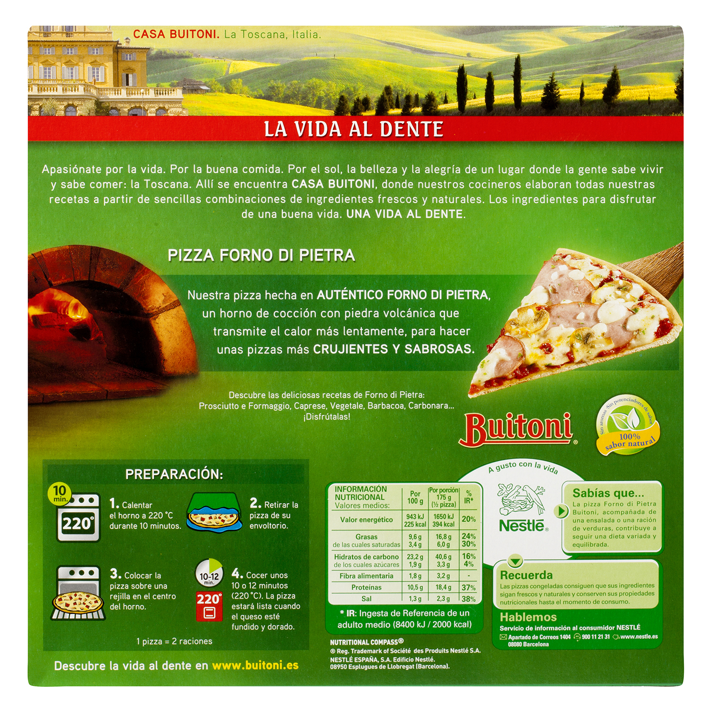Pizza prosciutto y funghi Forno di Pietra Buitoni 350 g. -