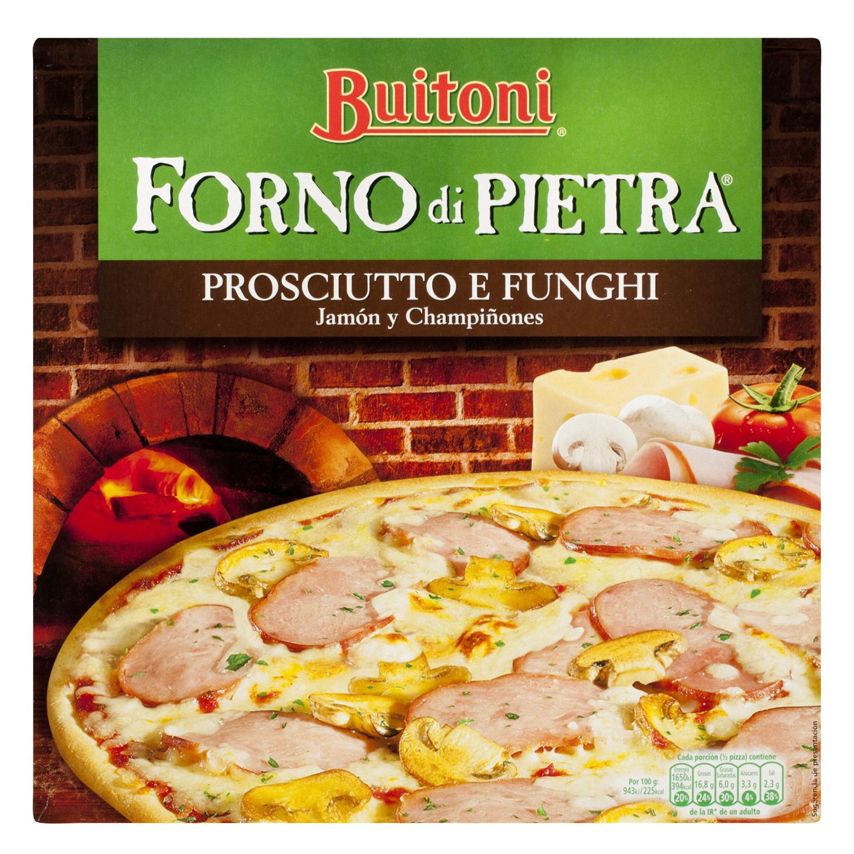 Pizza prosciutto y funghi Forno di Pietra Buitoni 350 g. - 2