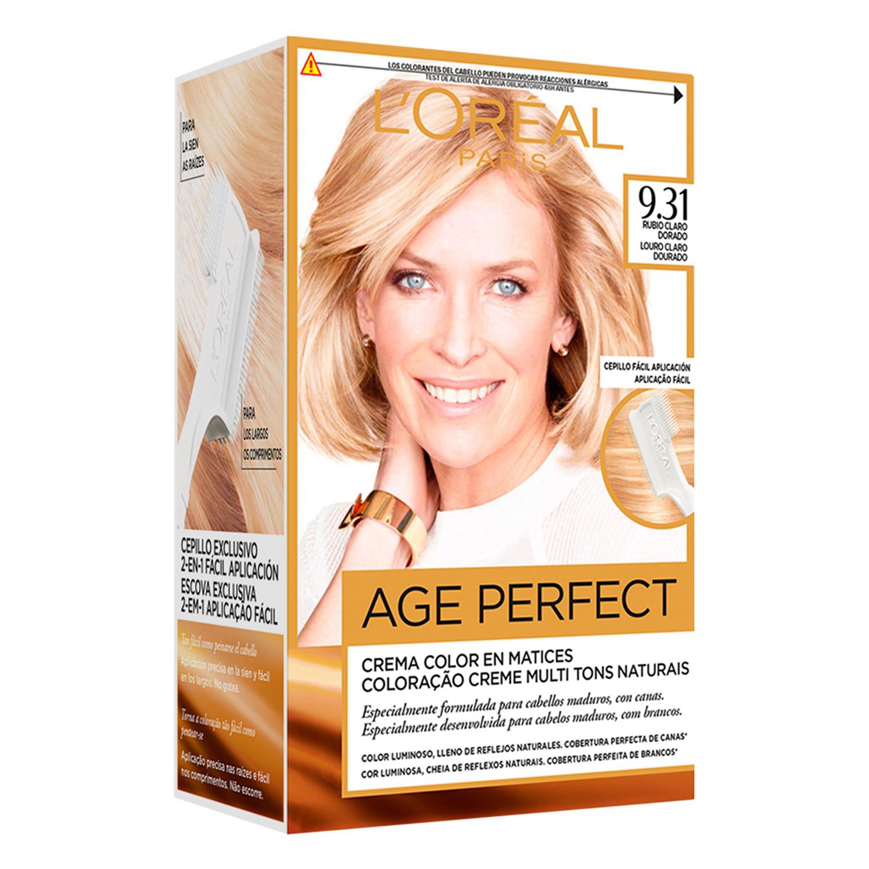 Tinte age perfect nº 9.31 Rubio Claro Dorado L'Oréal Excellence 1 ud.