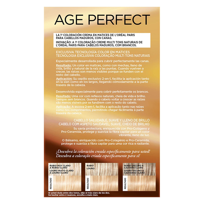 Tinte age perfect nº 9.31 Rubio Claro Dorado L'Oréal Excellence 1 ud. -