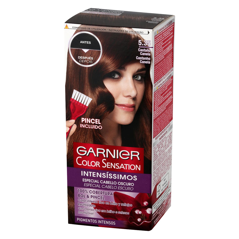 Coloración Permanente nº 5.35 Castaño Canela Garnier Color Sensation 1 ud.