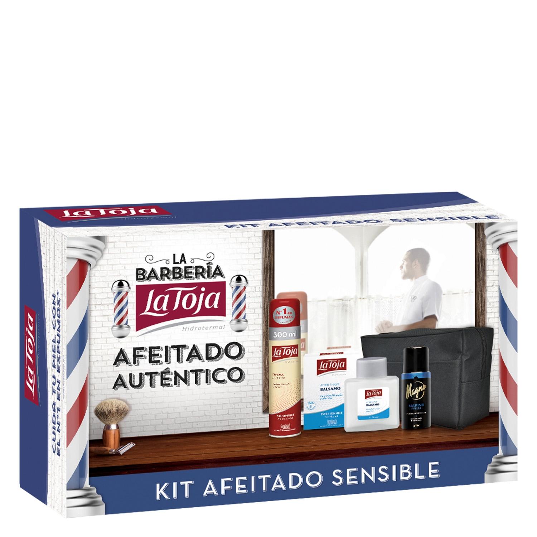 Pack afeitado (espuma piel sensible 300 ml. + after shave extra sensible 100 ml. + desodorante Magno 150 ml. + neceser) La Toja 1 ud.