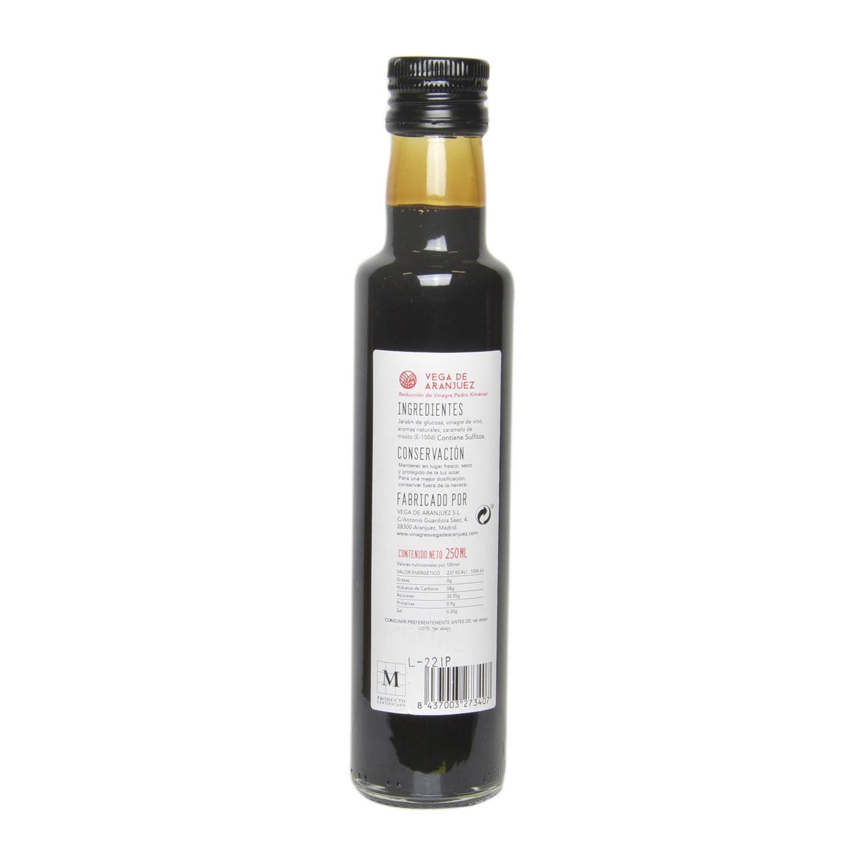 Reducción de vinagre al Pedro Ximénez Vega de Aranjuez 250 ml. -
