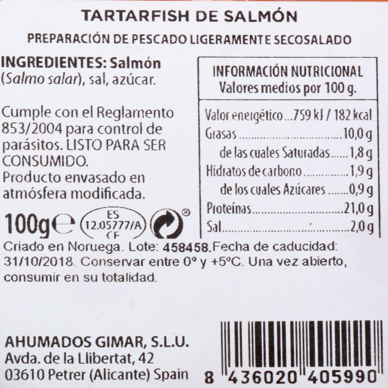 Tartarfish de Salmón Ahumados Gimar 100 g  - 3