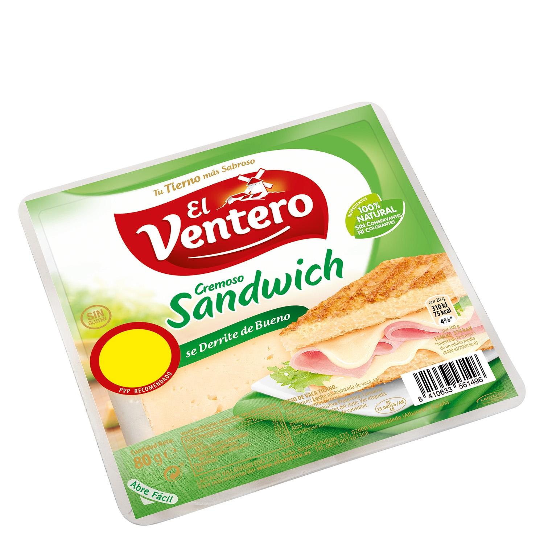 Queso en lonchas para sandwich