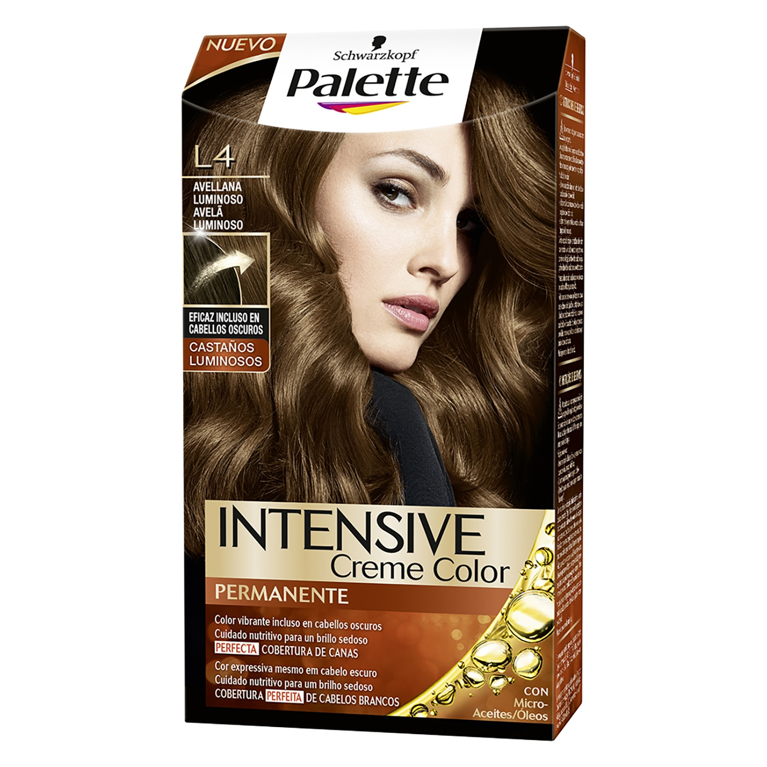 Tinte Intensive Creme Coloration L4 Avellana Luminoso Palette 1 ud.