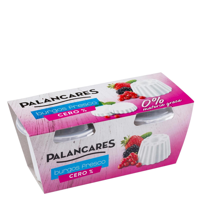 Queso de Burgos 0% m.g. Palancares pack de 2 unidades de 250 g.