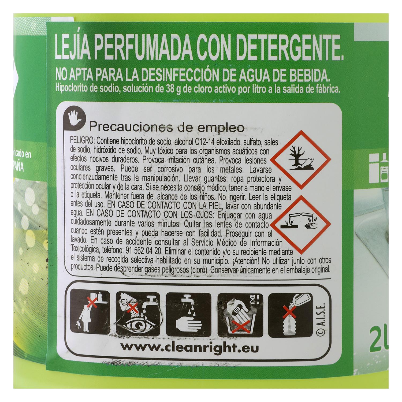 Lejía con detergente limón Especial Cocinas Carrefour 2 l. - 2