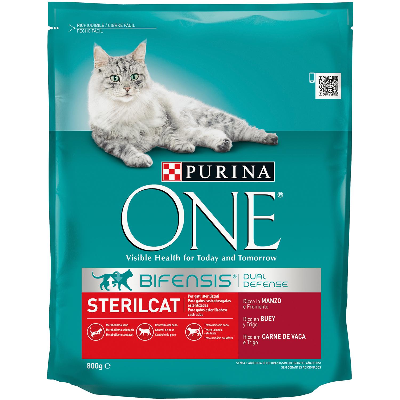 Comida para gatos Esterilizados con Buey One - Carrefour ...