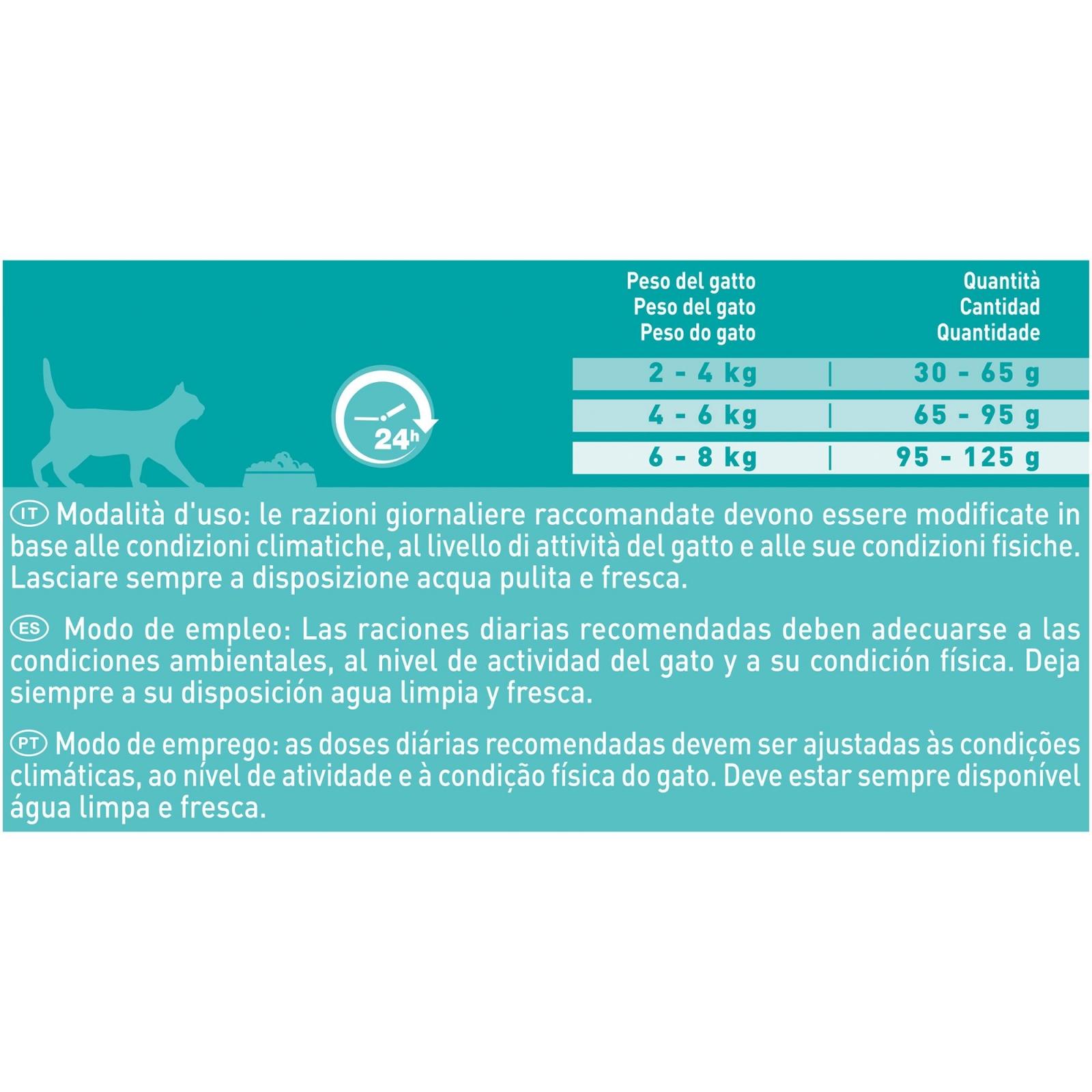 Purina ONE Bifensis Pienso para Gato Digestión Sensible Salmón y Cereales 800g - 2