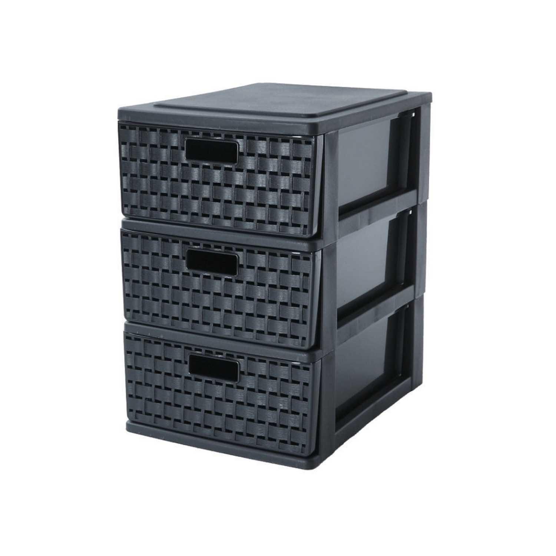 Torre de ordenación  de Plástico SUNDIS 25,5 x 18 x 28,5 cm - Negro