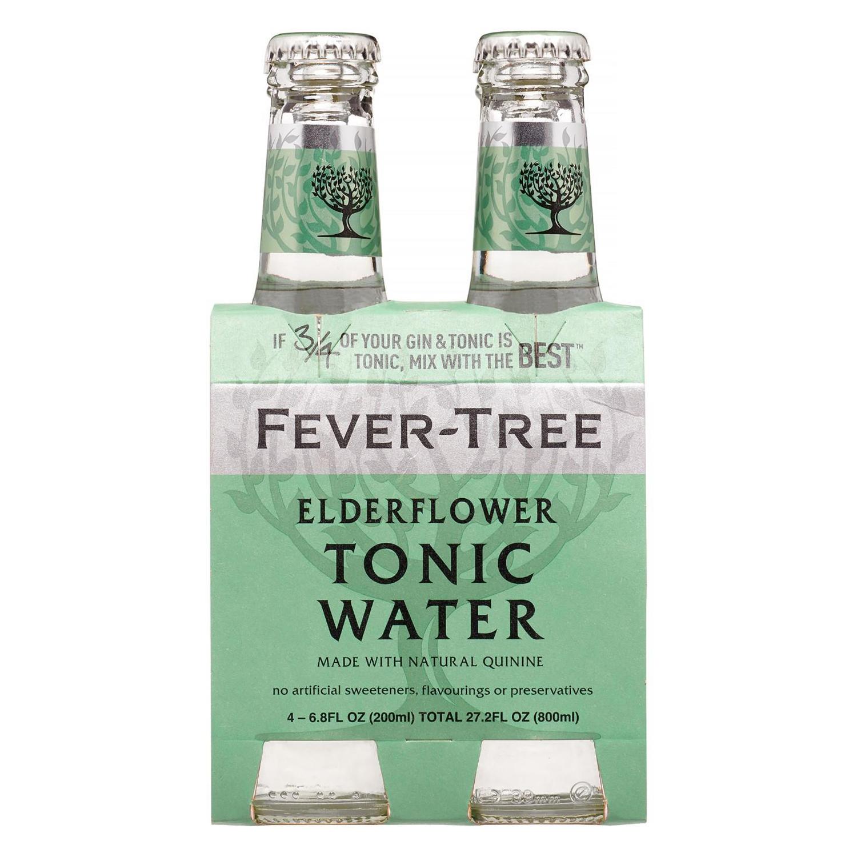 Tónica Fever Tree Elderflower pack de 4 botellas de 20 cl.