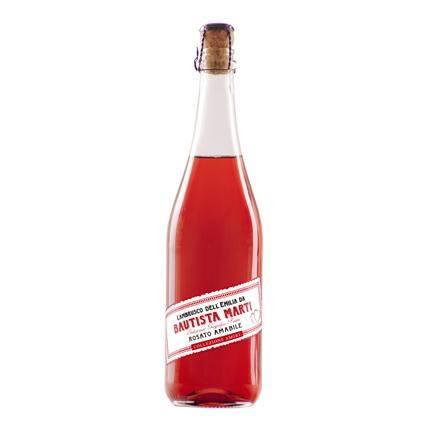 Vino Lambrusco rosado Amabile dell' Emilia Collezione Amore Bautista Marti 75 cl.