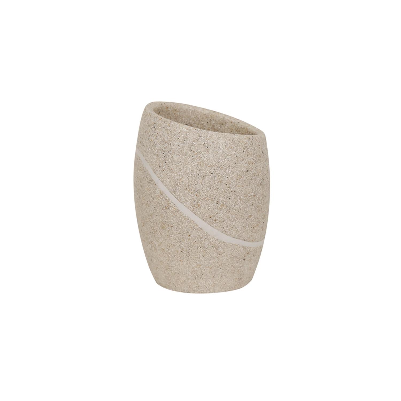 Vaso de lavabo de la gama Malua 8,2cm MSV - Beige