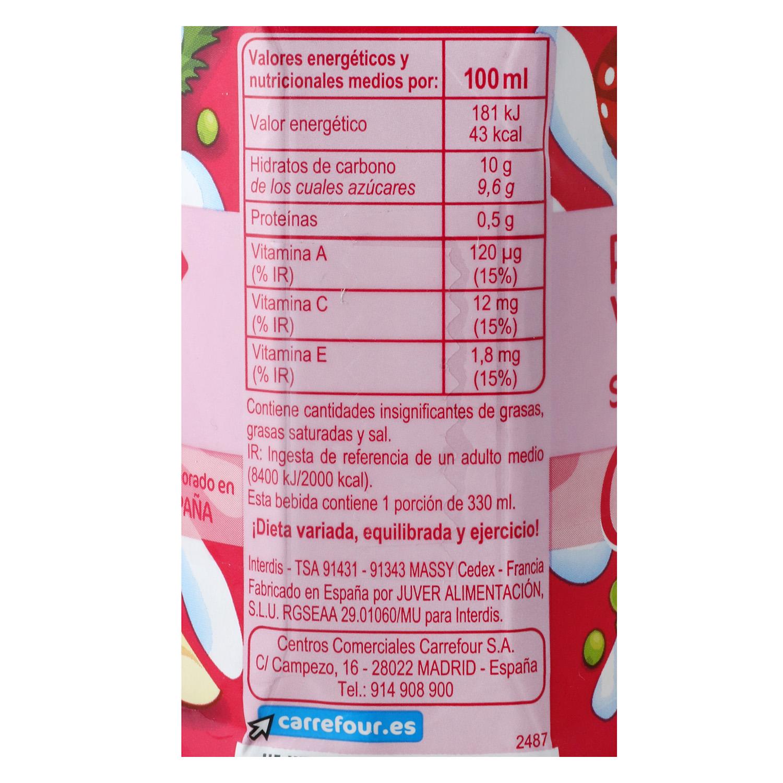 Zumo de frutas y leche Carrefour sabor tropical pack de 3 briks de 33 cl. -