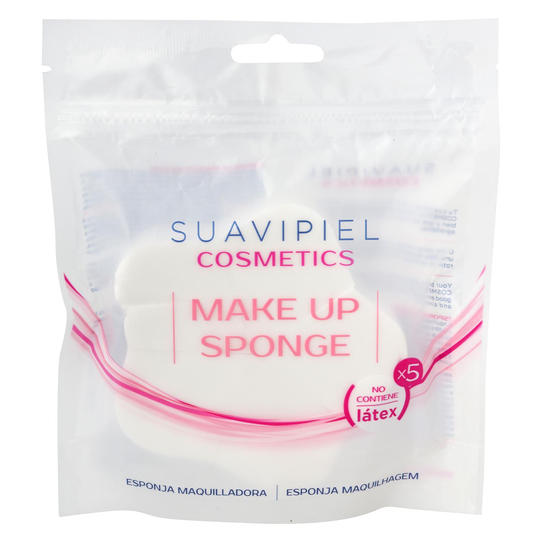 Esponja maquilladora sin latex Suavipiel 5 ud.