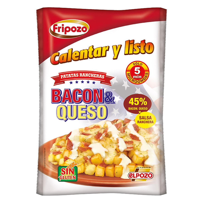 Patatas rancheras bacon y queso Fripozo 348 g.