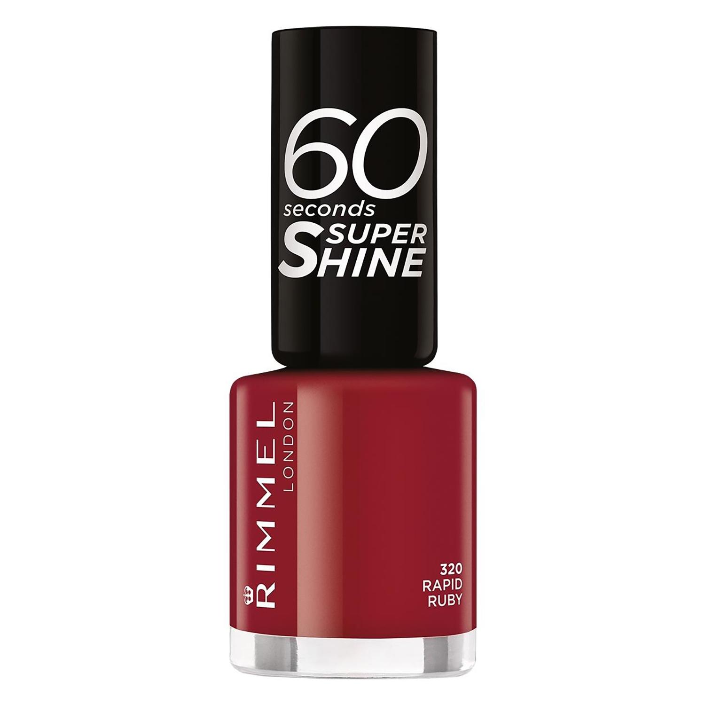 Laca de uñas 60 seconds super shine nº 320 Rapid Ruby Rimmel 1 ud.