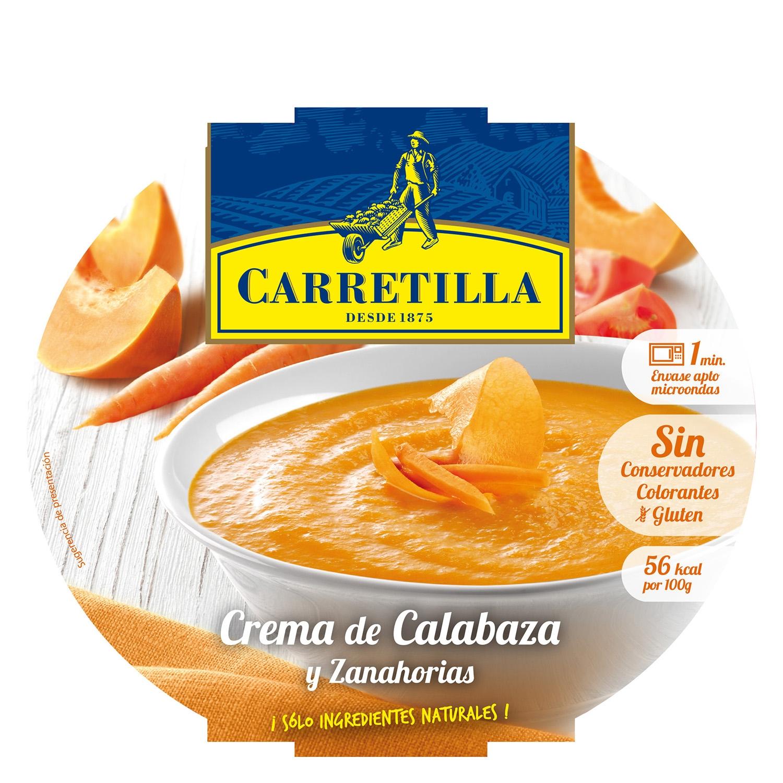 Crema campestre de calabaza y zanahoria