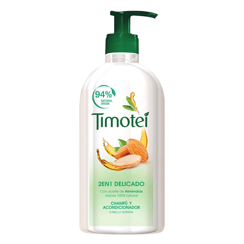 Champú y acondicionador 2 en 1 delicado para cabello normal