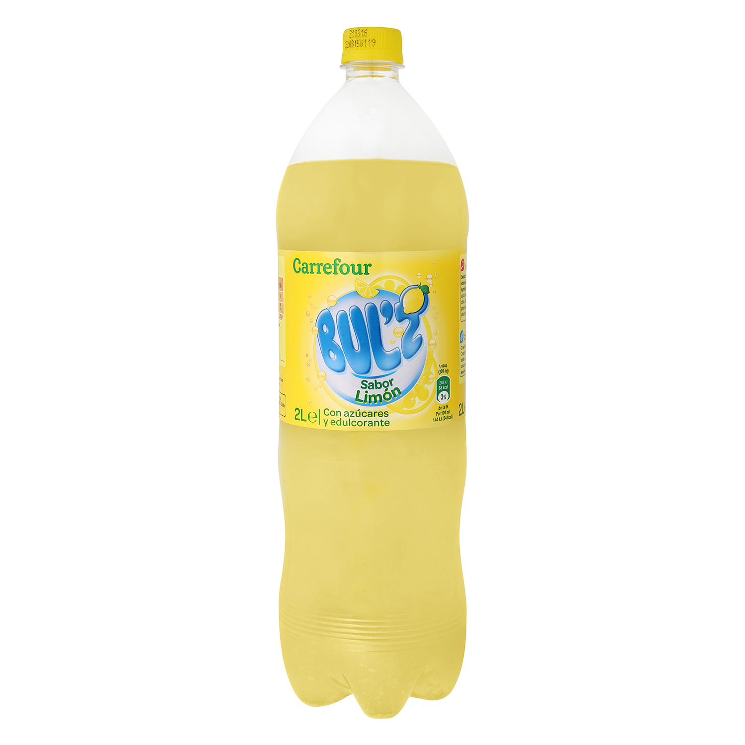Refresco de limón Carrefour con gas botella 2 l.
