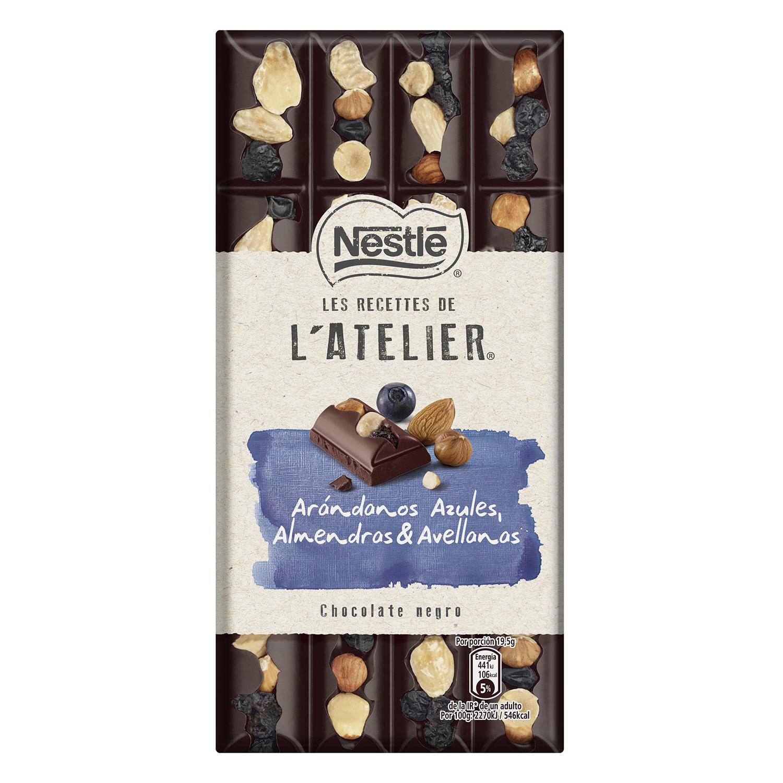 Chocolate negro con arándanos,almendras y avellanas Nestlé 195 g.