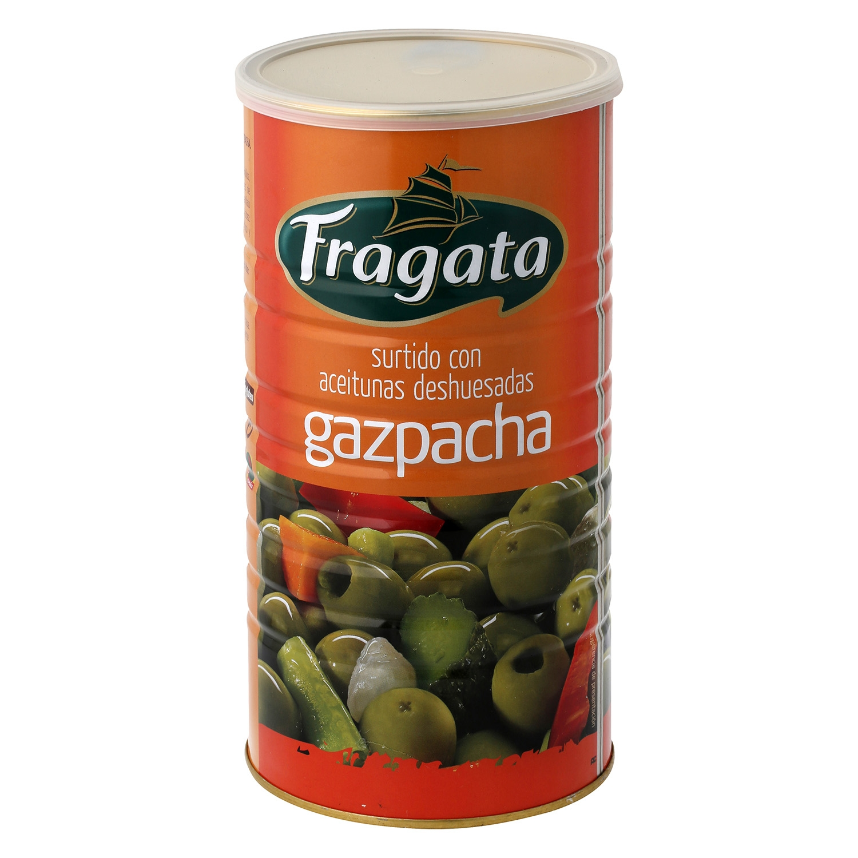Aceitunas gazpacha Fragata sin hueso 600 g.