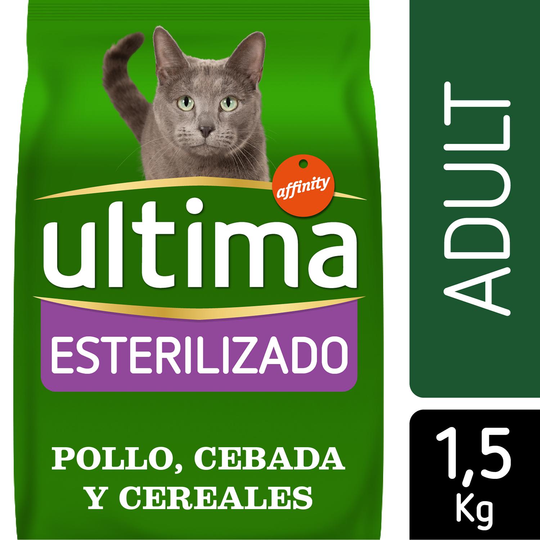 Ultima Pienso para Gato Esterilizado Adulto Sabor pollo 1,5kg. -