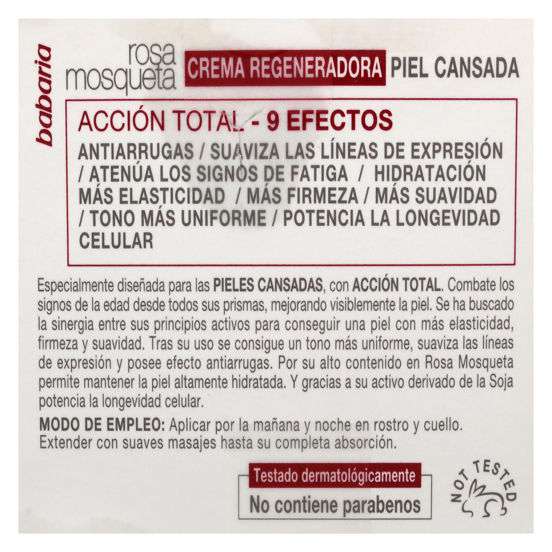 Crema regeneradora 9 efectos rosa mosqueta - 4