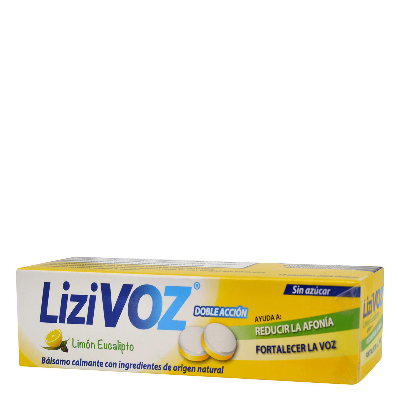 Caramelo de limón y eucalipto LiziVoz 18 comprimidos.