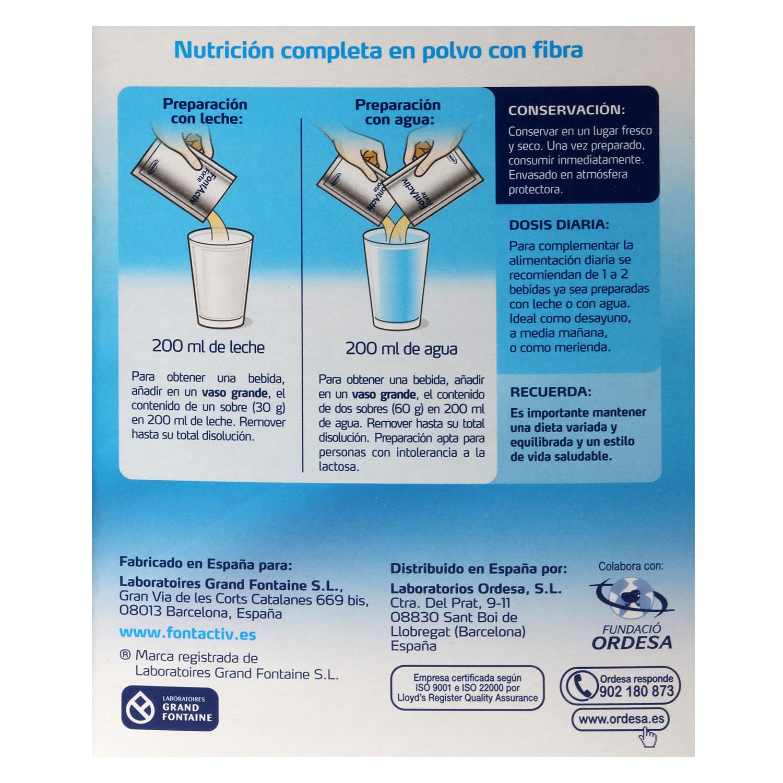 Complemento alimenticio Forte sabor vainilla Fontactiv sin gluten y sin lactosa pack de 14 sobres de 30 g. - 3