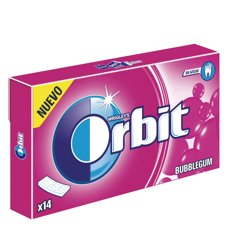 Chicles bubblegum Orbit 14 ud.