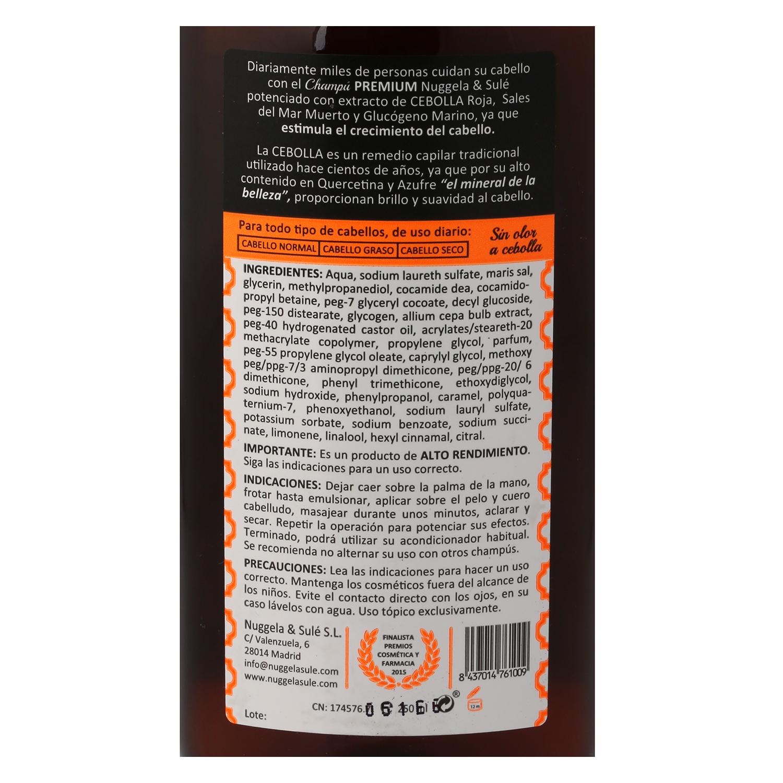 Champú con extracto de cebolla Nuggela & Sulé 250 ml. -