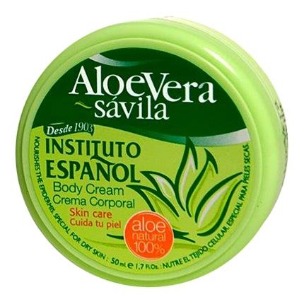 Crema corporal de aloe vera para piel normal formato viaje Instituto Español 50 ml.
