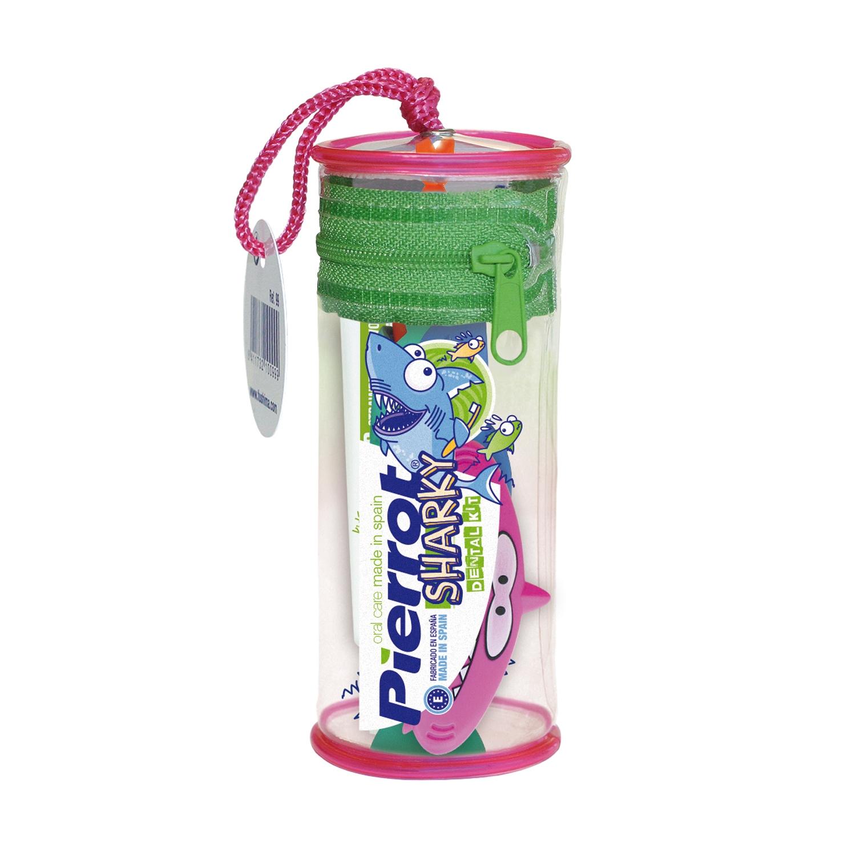 Kit dental infantil viaje (cepillo + dentífrico) Pierrot 1 ud.