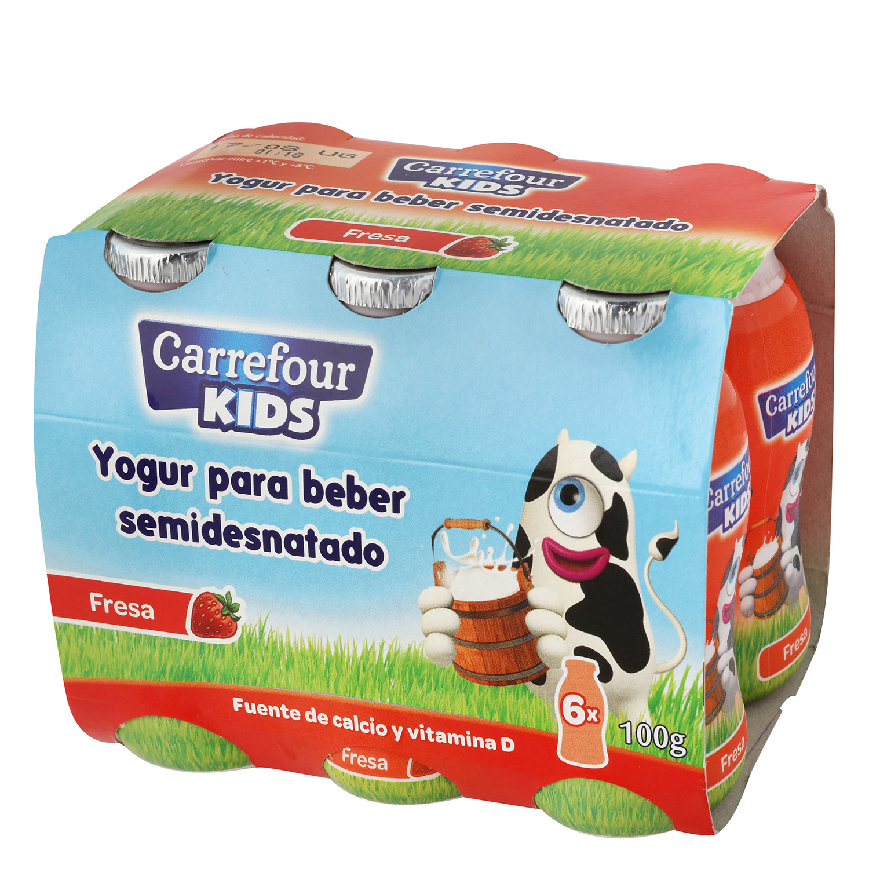 Yogur líquido semidesnatado de fresa