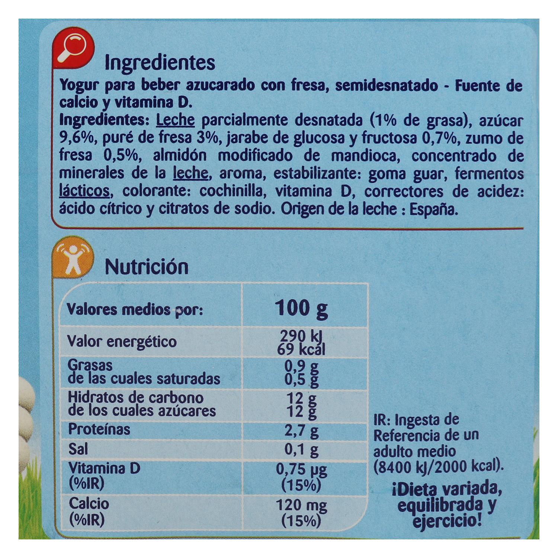 Yogur líquido semidesnatado de fresa - 2