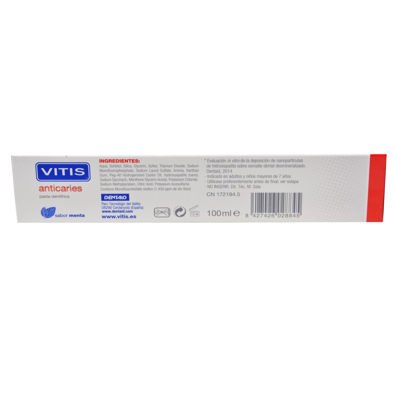 Dentífrico anticaries Vitis 100 ml. - 2