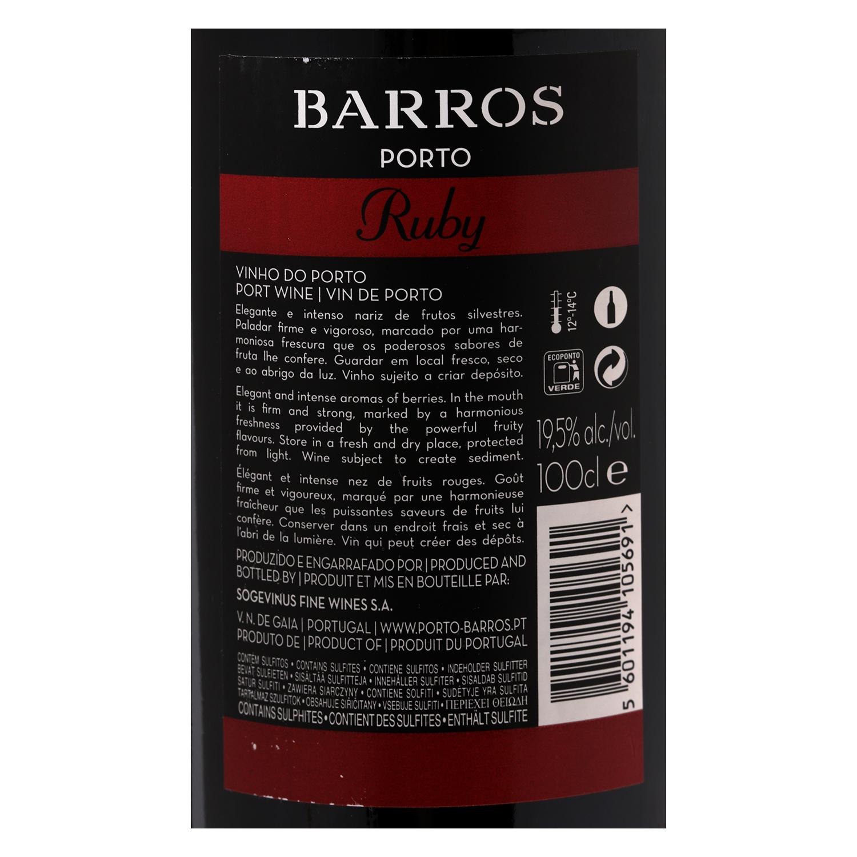 Vino Porto Ruby Barros 1 l. -