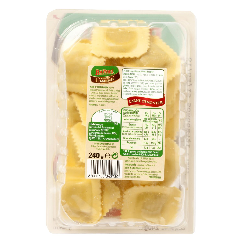 Ravioli de carne piemontese Buitoni 250 g. - 2